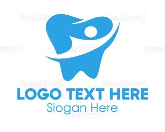 Dentist - Tooth Silhouette logo design