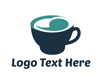 Cup - Blue Cup logo design