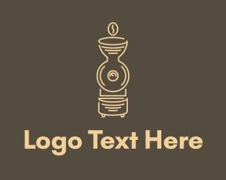 Machine - Coffee Machine Monoline logo design
