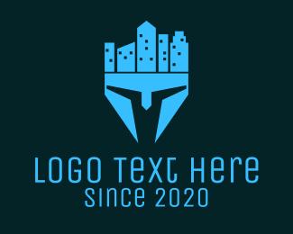 Gladiator - Helmet City logo design