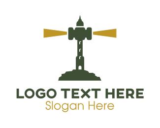 Lawyer - Judge Gavel Lighthouse logo design