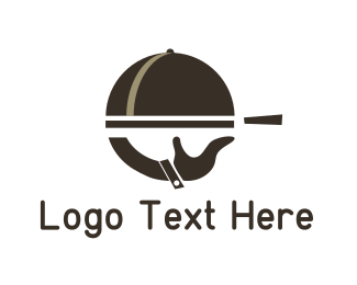Biryani - Brown Food Tray logo design
