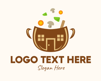 Vegetable - Vegetable Soup Bowl logo design