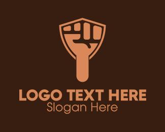 Arm - Hand Raised Shield logo design