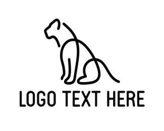 Predator - Black Big Cat Lines logo design