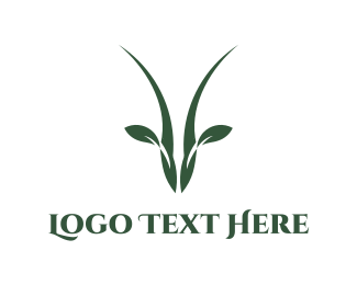 Horns - Antelope Leaf logo design