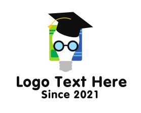 Intelligent - Lightbulb Creative Scholar logo design