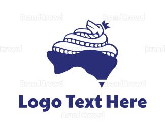 Venom - Australian King Cobra logo design