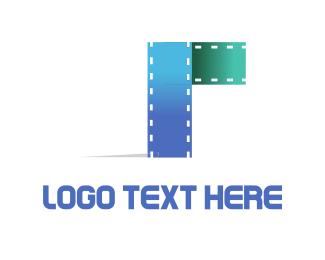 Blue Filmstrip Logo