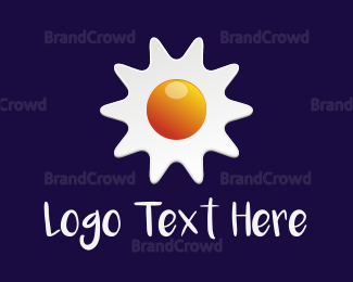 Brunch - Sun Egg logo design