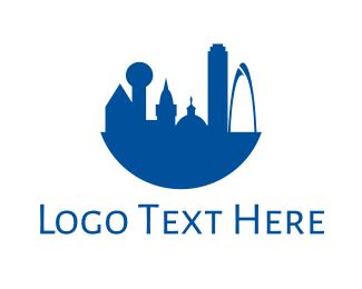 Dallas - Blue Dallas City logo design