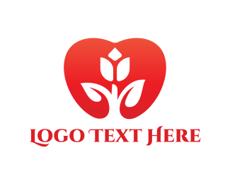 Kindness - Wedding Tulip Heart  logo design
