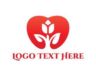 Tulip - Tulip Heart  logo design