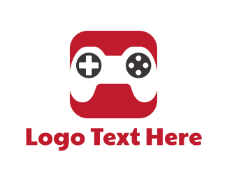 Mobile Games - Red Gaming App logo design