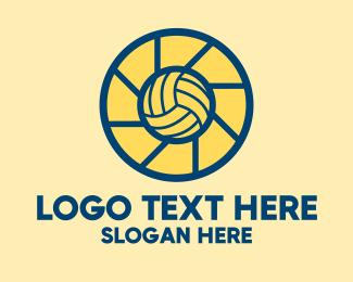 Volleyball Player - Volleyball Camera Shutter  logo design