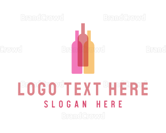 Bachelorette - Wine Bottles logo design