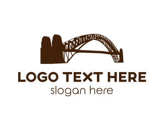 Sydney - Brown Harbour Bridge  logo design