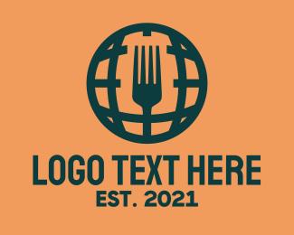International - International Global Cuisine logo design