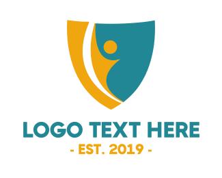 Human - Active Human Shield logo design