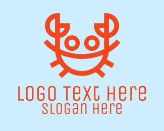 Shellfish - Orange Crab Seafood  logo design