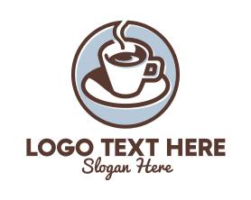 Coffee - Espresso Cafe Coffee logo design