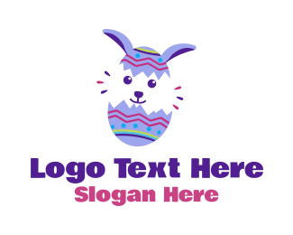 Decorated - Decorative Easter Bunny Egg  logo design