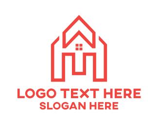 Construction - Orange Arrow House logo design