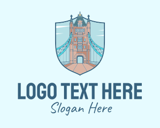 Infrastracture - Tower Bridge Landmark logo design