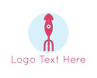 Fork - Squid Fork logo design