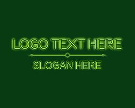 """""""Green Glowing Wordmark"""" by Marvie"""