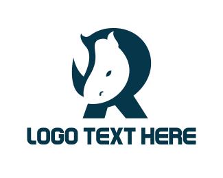 Rhinoceros - Rhino letter R logo design