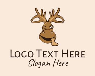 Funny - Wild Moose Mascot  logo design