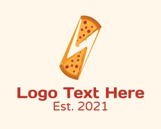 Hungry - Cheesy Pizza Slice logo design