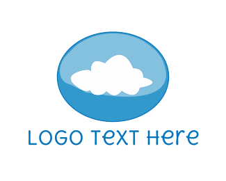 Weather - Cloud Bubble logo design