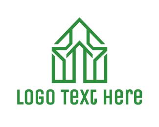 Chapel - Green House Outline logo design