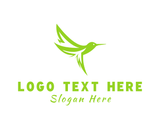 Hummingbird - Leaf Hummingbird logo design