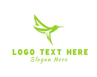 Colibri - Leaf Hummingbird logo design