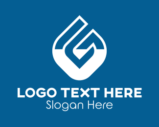 Water Refilling - Water Droplet Letter G logo design