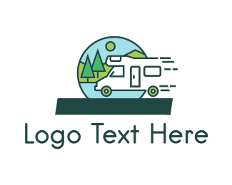 Outdoor - Fast Camper logo design