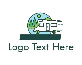 Caravan - Fast Camper logo design