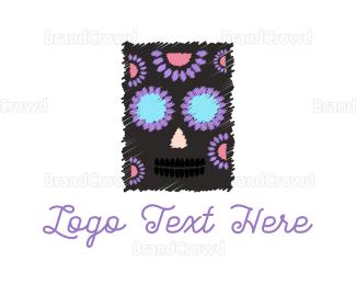 Fest - Floral Skull logo design