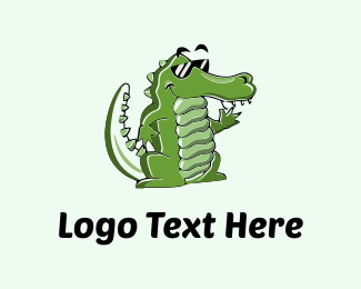 Waving - Cool Croc logo design