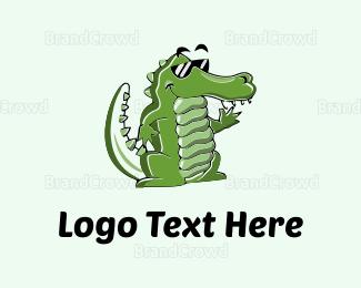 Kids Party - Cool Croc logo design
