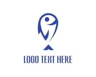 Pet Shop - Happy Fish logo design
