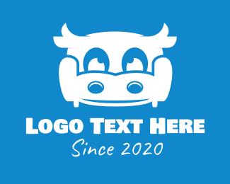 Living Room - Dairy Cow Couch logo design