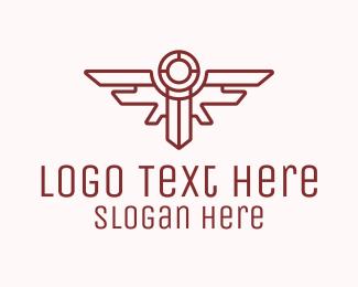 Corps - Red Wings Sword Emblem logo design