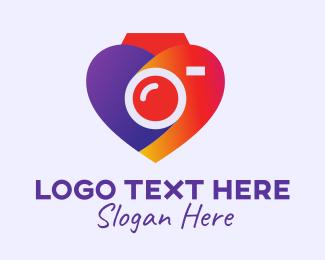 Photo Editing - Heart Camera Filter logo design