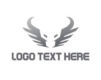 San Antonio - Silver Bull logo design