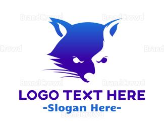 Aggressive - Aggressive Raccoon logo design