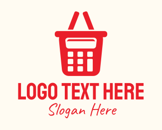 Purchase - Red Calculator Shopping Basket logo design